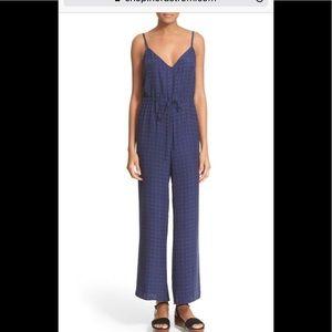 Frame 100% silk le wide leg silk jumpsuit